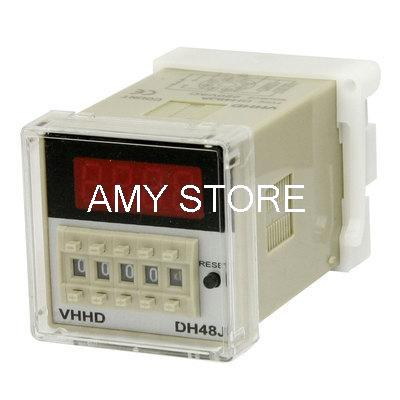 цена на Controller 1-999900 Counting 8 Pins DH48JA Power Counter Relay 220VAC