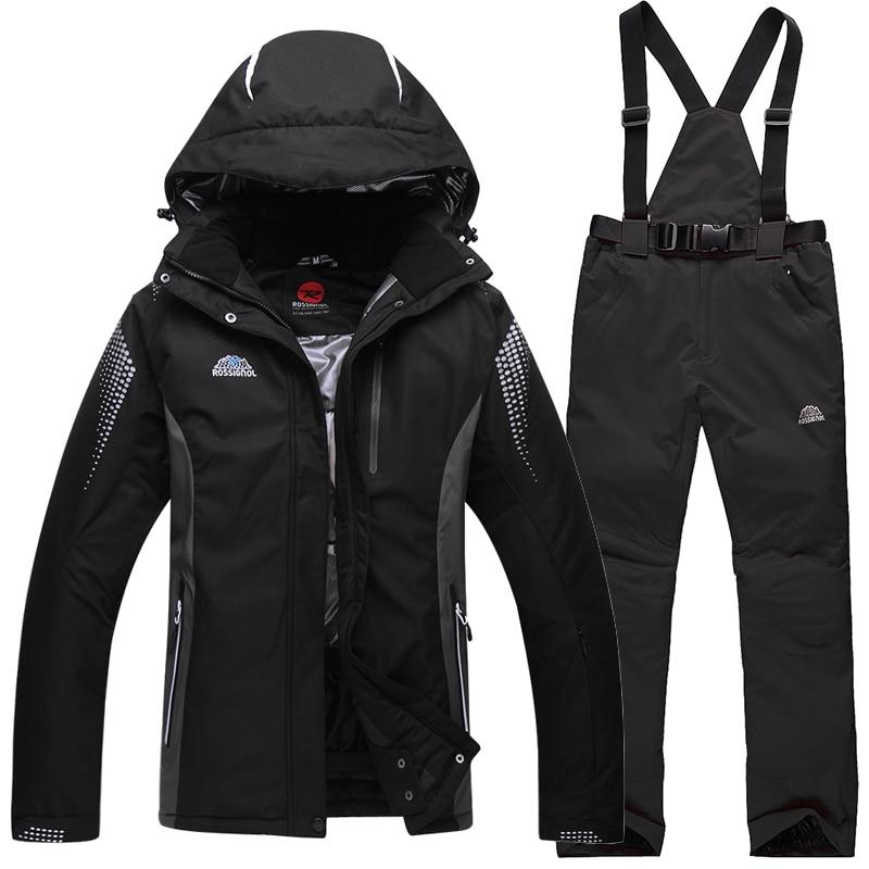 Free shipping 2016 Men Ski Suit Waterproof Windproof Ski Jacket Pants Warm Thicken Clothes Pants Men