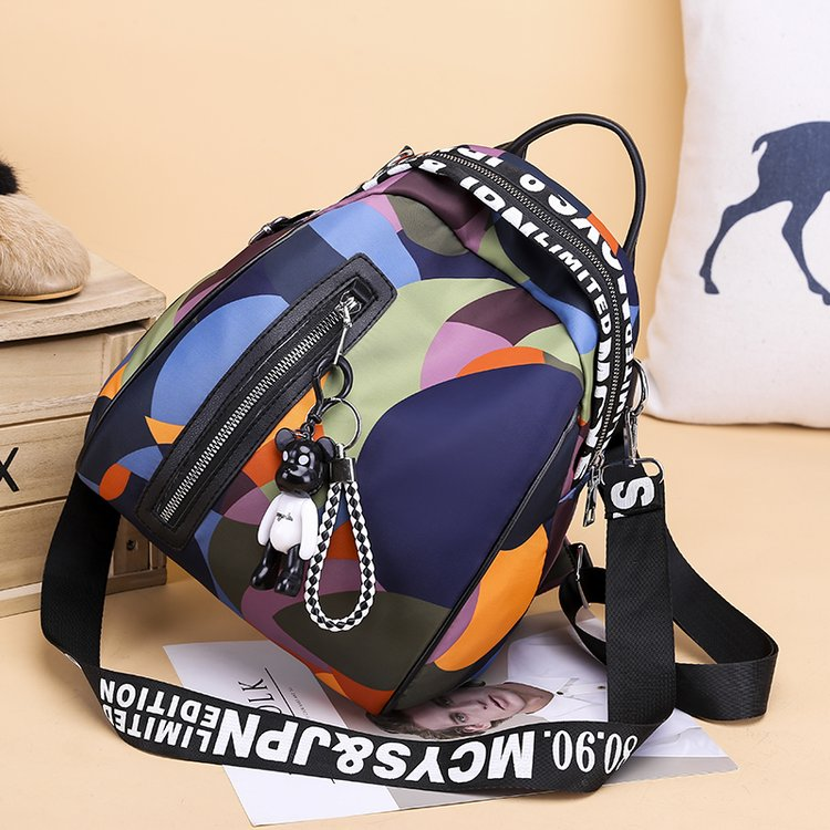 HTB1TMzFaJfvK1RjSspoq6zfNpXau 2019 new ladies bear pendant Multifunction backpack high quality youth color backpack girl casual large capacity Bags for women