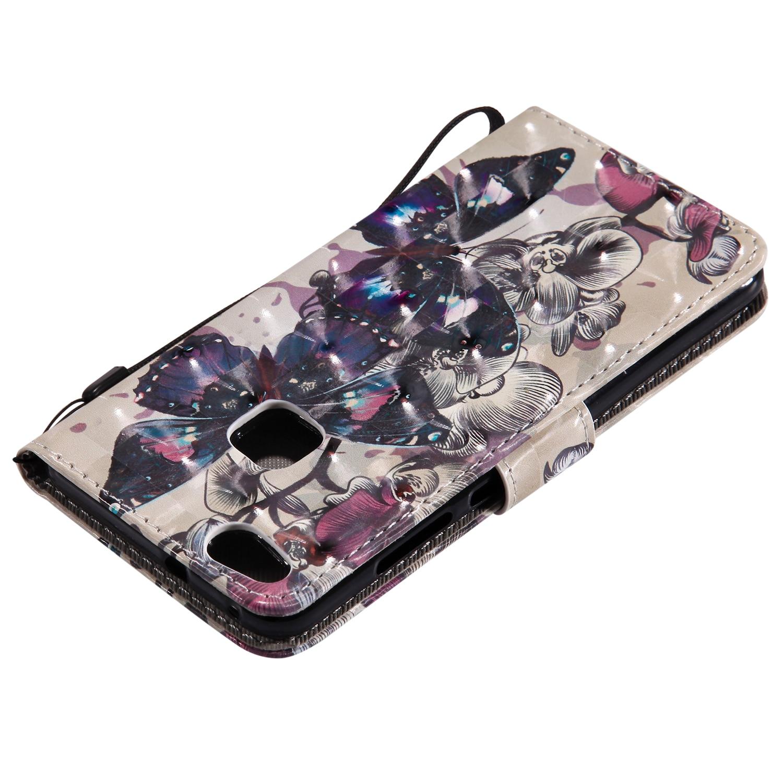 Butterfly Flower Flip Case For Huawei P8 P9 P10 P20 Y6 Y5 Y3 2017 Honor 8 9 Lite 6C Enjoy 6S Mate 10 P Smart Cover Funda B129