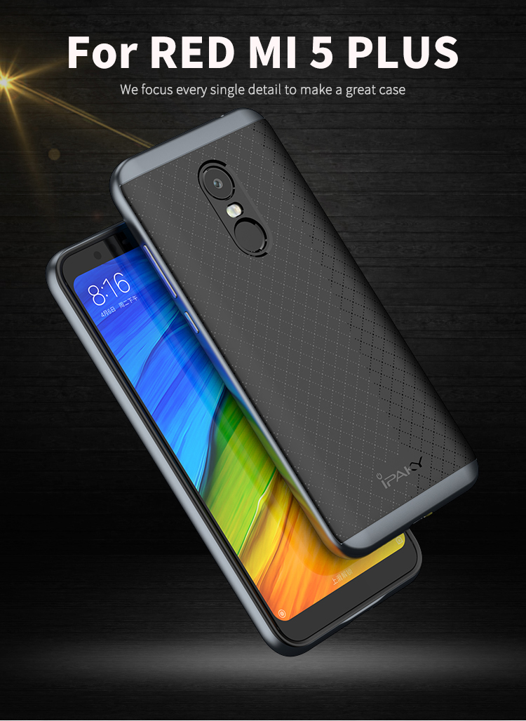 hot sale online 51b4d 9c113 iPaky Shell For Xiaomi Redmi 5 Plus Case Redmi5 Plus Cover PC  Frame+Silicone Hybrid Back Phone Case for Redmi 5Plus/Note 5 Coque