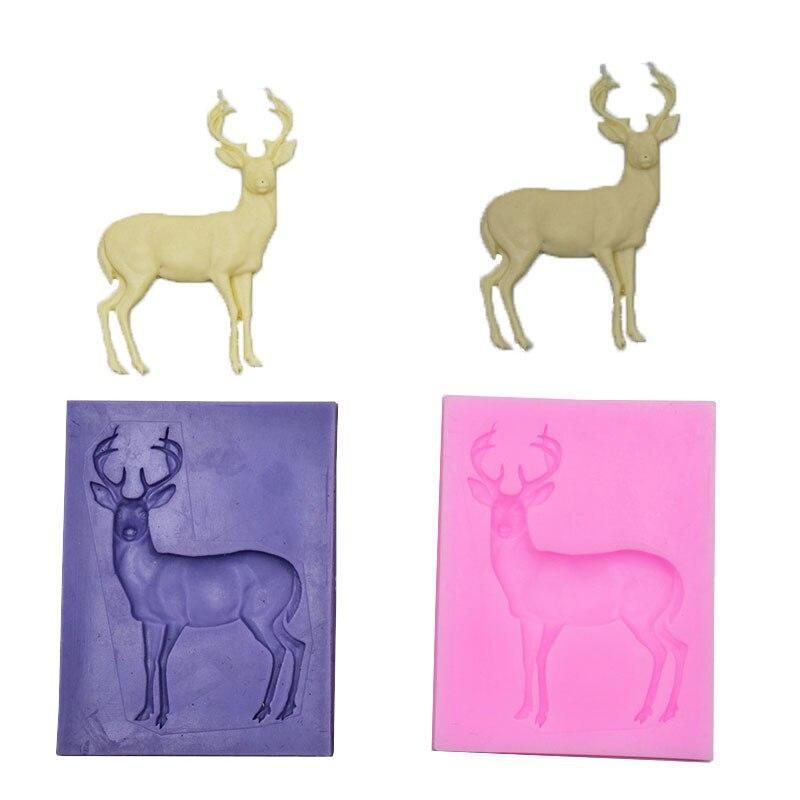 Silicone Mold Elk Shape Mould Deer Safe Suger Chocolate Crafts Kids Interesting