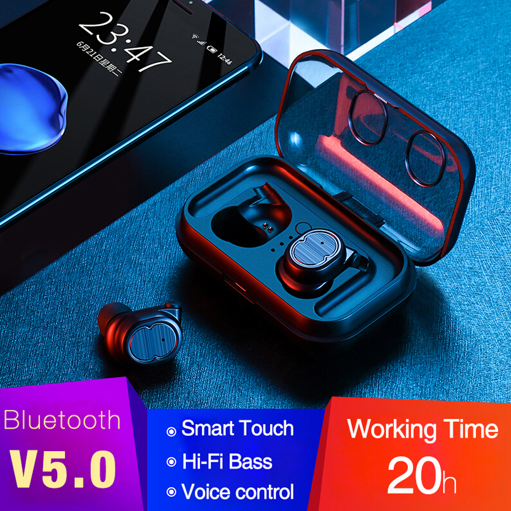 in ear gaming earbuds soundbar waterproof bluetooth 5.0 sports ipx5 earphone  Wireless Earphone Touch Control Sports Earphones