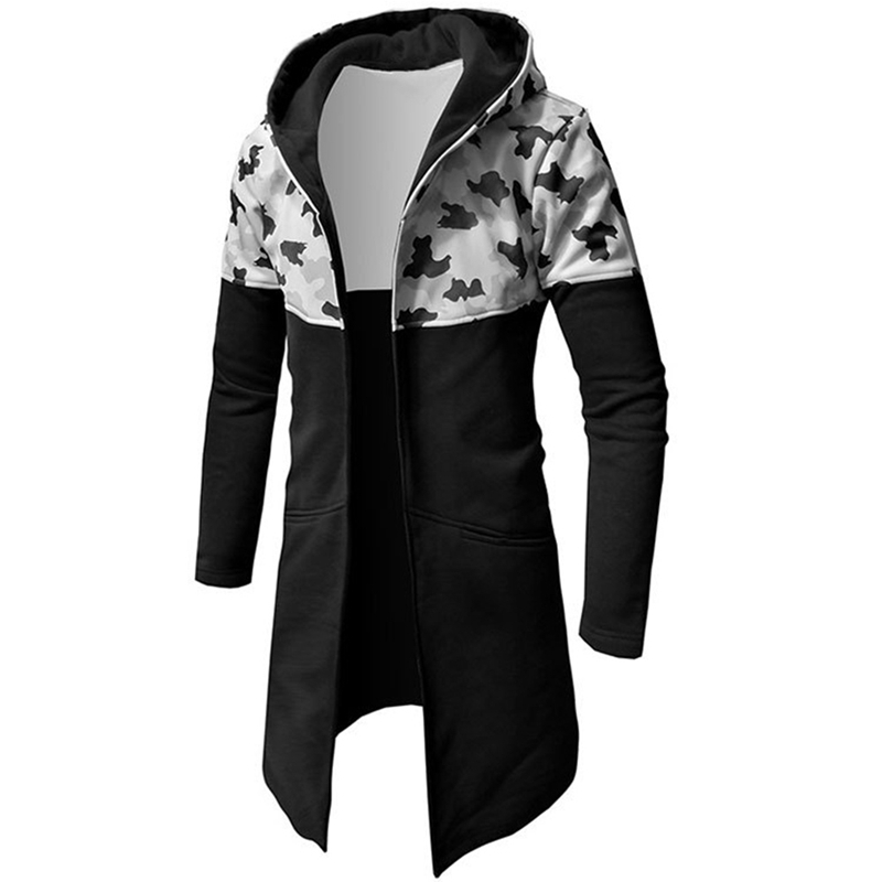 New Fashion Headwear Hoody Windbreakers Hip Hop Jackets Coat For Men Men Coat Patchwork  Camo Jacket Red