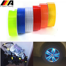 Safety Mark Reflective Tape Sticker Car Styling Self Adhesive Warning Tape Automobile Motorcycle Bicycle DIY Decoration Strip