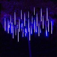 Thrisdar 8pcs Set 30CM 50CM Meteor Shower Rain Tubes String Light LED Falling Snow Christmas Tree