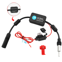 Lonleap Universal Car Radio Aerials Adapter Auto Car Radio FM Antenna Signal Amp Amplifier Booster Radio