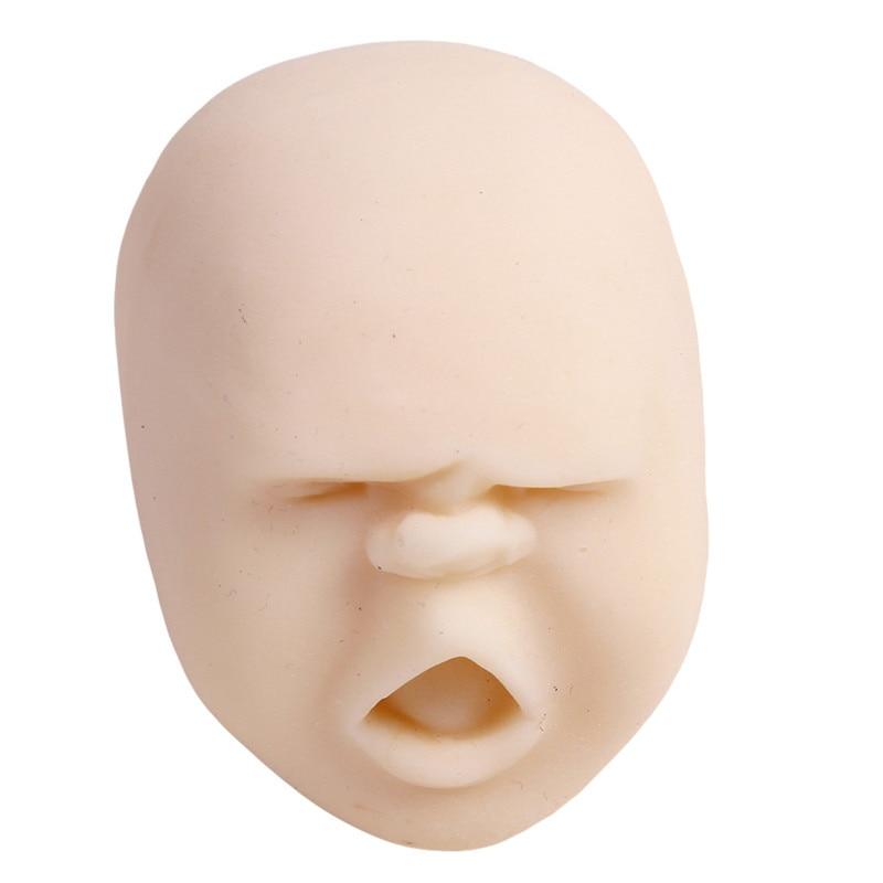Забавная Новинка каомару, антистрессовая игрушка с мячом, с человечеловеческим лицом, удивище, сюрприз, эмоция, шар из смолы, расслабляющая, для взрослых, игрушка для снятия стресса, подарок - Цвет: White 4