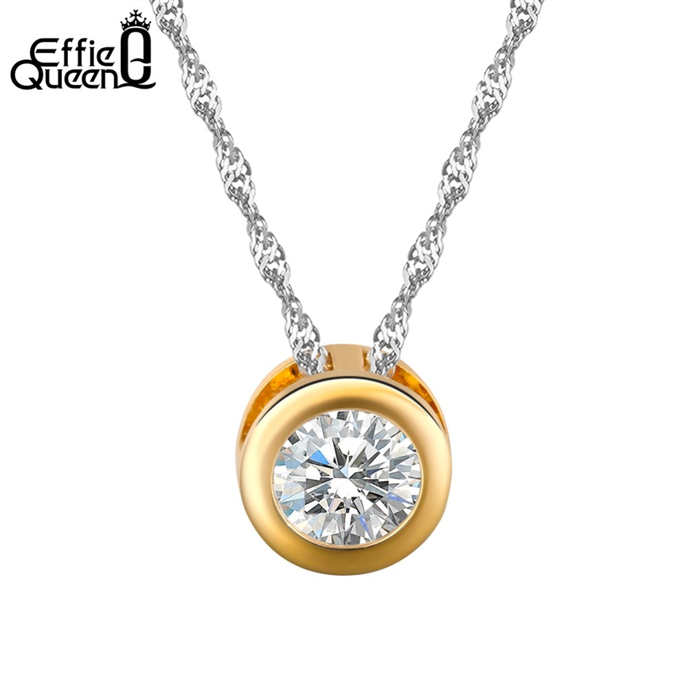 23f7bf0fb Fashion Women Necklace Classic Gold-Color Silver Color Slide Pendants  Necklaces Chain Wedding Jewelry PPN74
