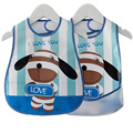 Baby Bibs EVA Waterproof Lunch Bibs Boys Girls Infants Cartoon Pattern Burp Cloths For Children Self Feeding Care