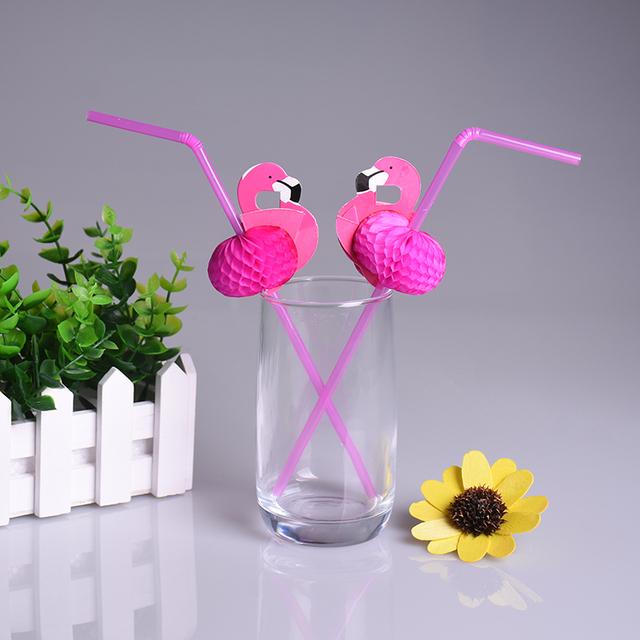 Flamingo Design Straws 25 pcs/set
