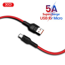 XO 5A Micro USB Cable Fast Charger USB Data Fashion Red 5A Charge Micro USB For charging Mobile Phone Cable High quality