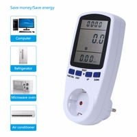 TS 836EU German Type EU Digital Portable Power Meter Measuring The Socket Current And Voltage Power
