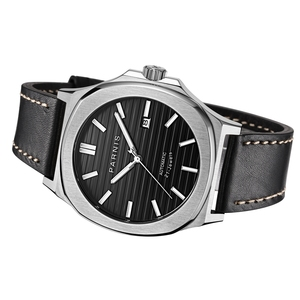 Image 3 - Parnis 42mm Mechanical Mens Watches Automatic Men watch Clock Top Brand Luxury Diver Sapphire Crystal Relogio Masculino 2019