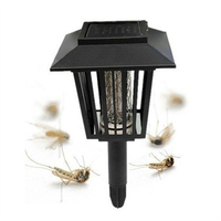 新しいソーラーガーデン庭ledランプライトバグザッパー害虫昆虫蚊キラーランプ屋外E2shopping