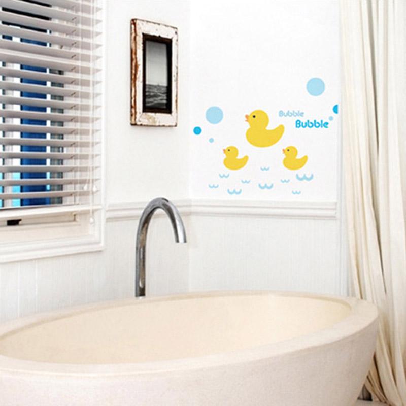 Neue Rhabarber Ente Fenster Aufkleber Wandtattoos Fr Kinder Badezimmer Fliesen Dekoration Wasserdichte TapeteChina