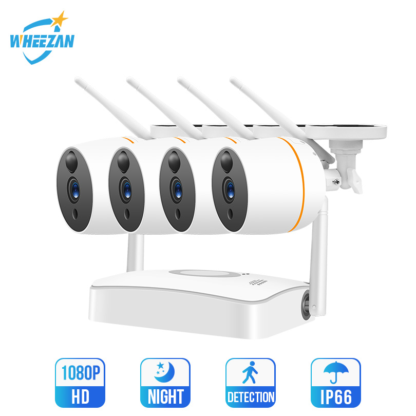 Wheezan WiFi CCTV Camera Security System Kit Outdoor Waterproof Camera Home Video Surveillance Set Wireless Two