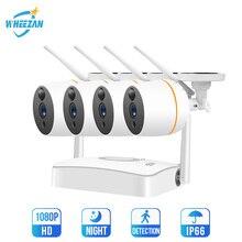 Wheezan WiFi CCTV מצלמה אבטחת מערכת ערכת חיצוני עמיד למים מצלמה בית מעקב וידאו סט אלחוטי שתי בדרך אודיו IP Cam