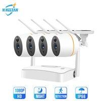 Wheezan WiFi CCTV Camera Security System Kit Outdoor Waterproof Camera Home Video Surveillance Set Wireless Two way Audio IP Cam