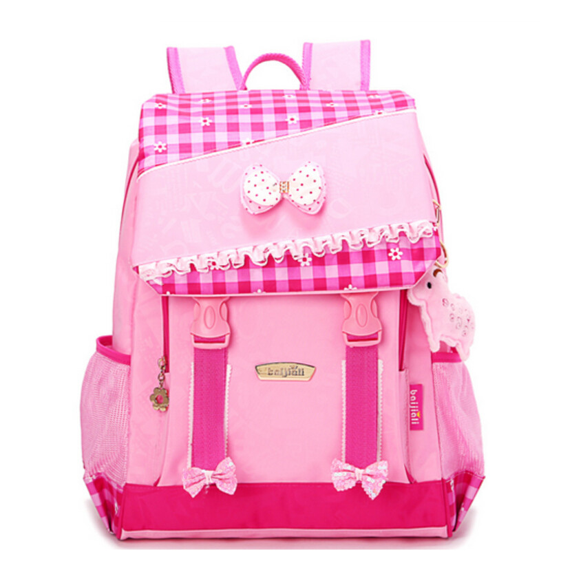 high quality cute school backpack for girls student blue pink ...