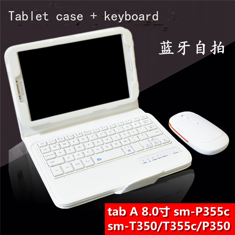 For Samsung GALAXY Tab A 8.0 T350 T351 T355 P350 P355 Removable Bluetooth Keyboard Portfolio Flip PU Leather Case Cover