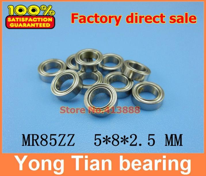 Factory direct sale MR85 SMR85 Z SMR85ZZ L-850ZZ WA675ZZ 5*8*2.5 mm high-quality Miniature stainless steel bearing 440C material six same faces konya wa saikou mr
