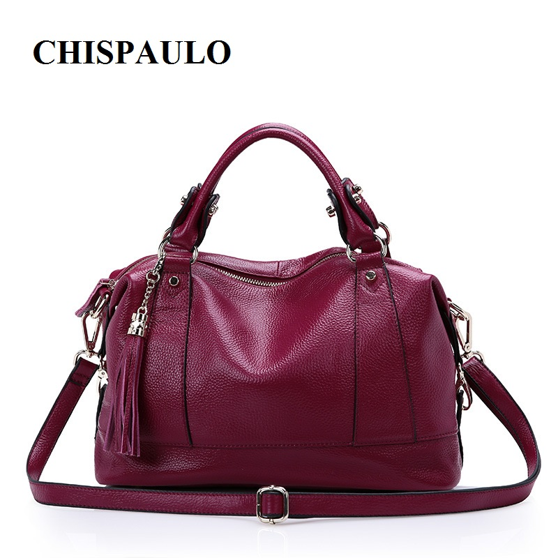 CHISPAULO 2017 Genuine Leather Handbags Luxury For Women Bolsa Femininas Women's Messenger Shoulder Bags European Fold new C129 chispaulo 2017 women genuine leather handbag small new famous brands summer handbags high quality tote bag bolsa femininas c166