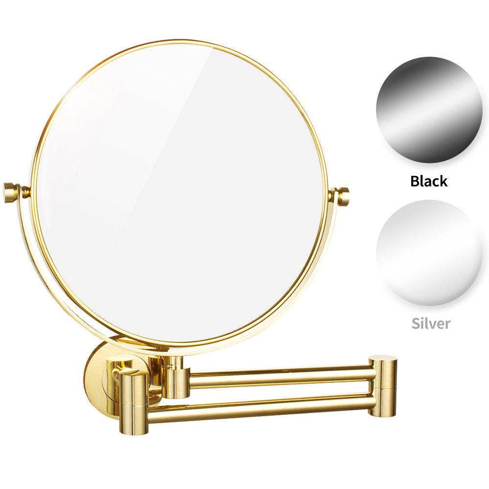Gurun 8 Inch 10X magnifying Makeup Mirror double reversible Wall Mounted cosmetic Mirror compact mirror blank