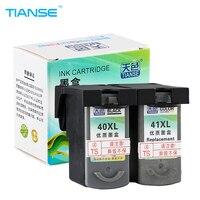 TIANSE מחסנית דיו CL41 PG40 PG-40 CL-41 PG 40 41 עבור Canon PIXMA IP1180 IP1200 IP2500 MX308 MP140 MP150 MP160 MP210 מדפסות