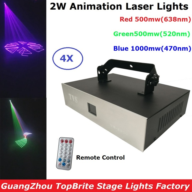 Best Offers 4XLot Sales 2W RGB 3IN1 Laser Stage Lighting Scanner DJ Show Light Effect Projector illumination Fantastic Disco Beam Laser Show