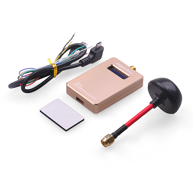 VMR48 48CH 5.8G 5.8Ghz FPV AV Receiver for DIY RC Racing Drone Universal for iPhone Android IOS Smartphone Mobile Accessories fpv wireless 5 8g 48ch rd945 dual diversity receiver with a v and power cables for fpv racing drone rc airplane toys part