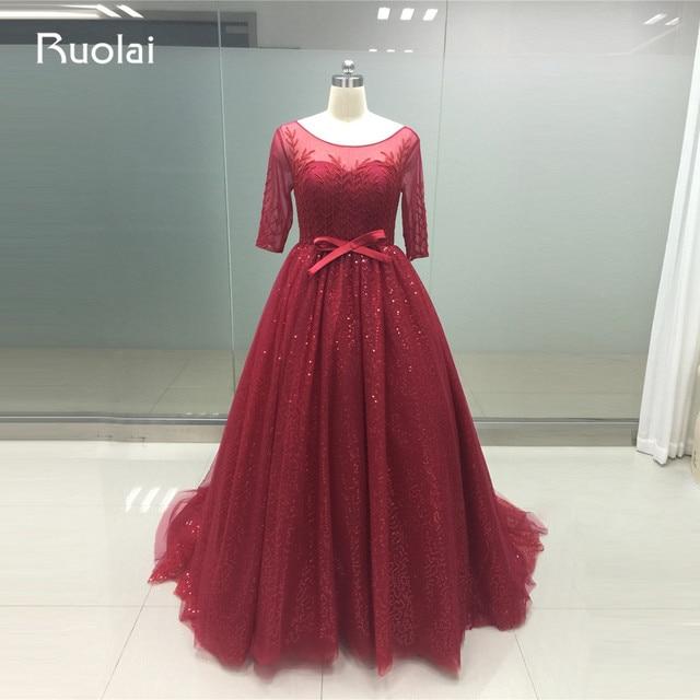 Aliexpress.com : Buy 2017 Luxury Beaded Dubai Half Sleeves Ball Gown ...