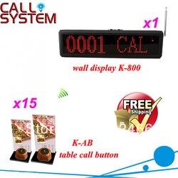 Nowy!! Bezprzewodowy dzwonek systemu z 4 digit numer wyświetlacz i otrzymać telefon zwrotny od przycisk z uchwyt na menu; wysyłka za darmo