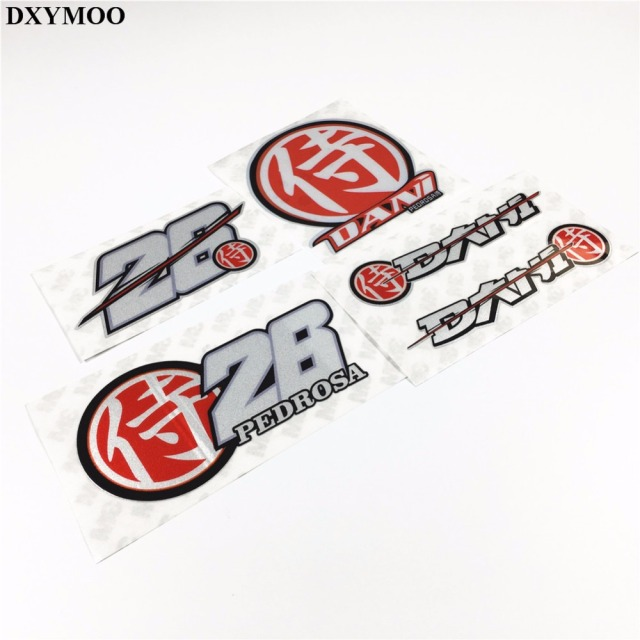 Motogp racing motorcycle stickers helmet window car sticker decal viny bumpers for vw mazda ford fighter