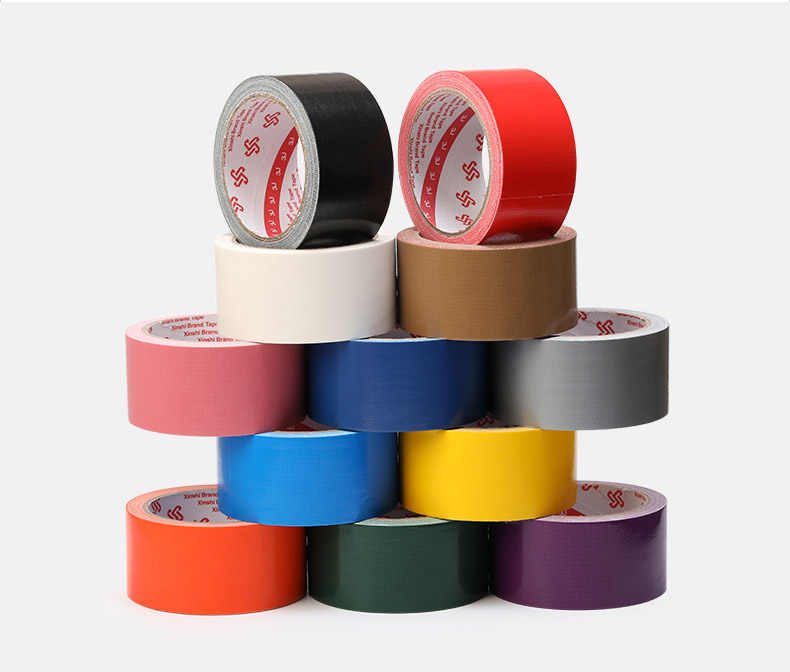 Duct Tape Carpet Floor Tape Diy Decoration Colour Cloth Isolation Tape Strong Waterproof Vigorously Single Side 10m Length