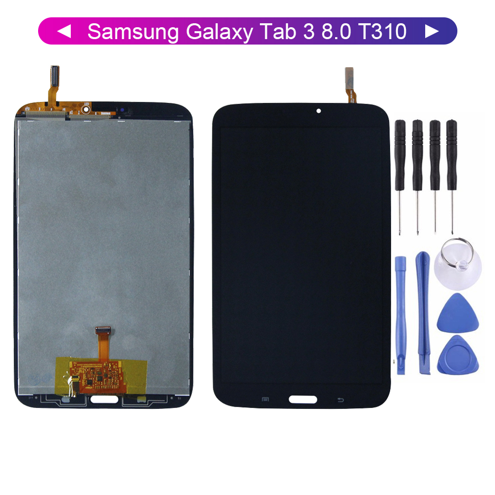 For Samsung Galaxy Tab 3 8.0 T310 SM-T310 LCD Display Digitizer Screen Touch Panel Sensor Assembly Replacement