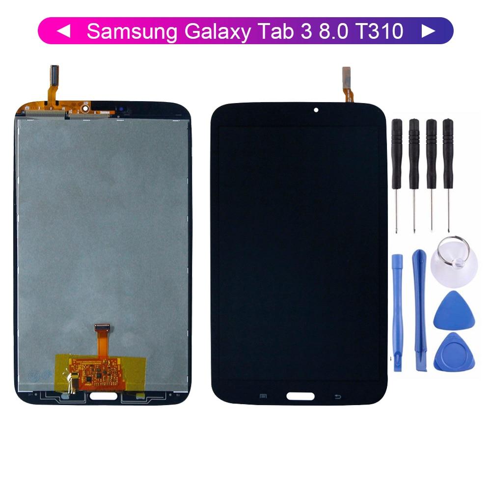 Pour Samsung Galaxy Tab 3 8.0 T310 SM-T310 écran LCD numériseur écran tactile capteur assemblage remplacement