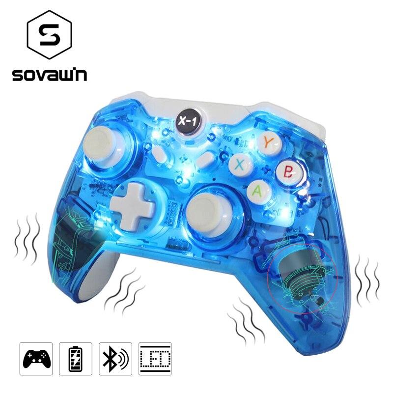 Sovawin Gamepad Sans Fil Bluetooth Contrôleur de Jeu pour PC Vibrations Contrôleur À Distance pour Windows pour Microsoft pour xbox one