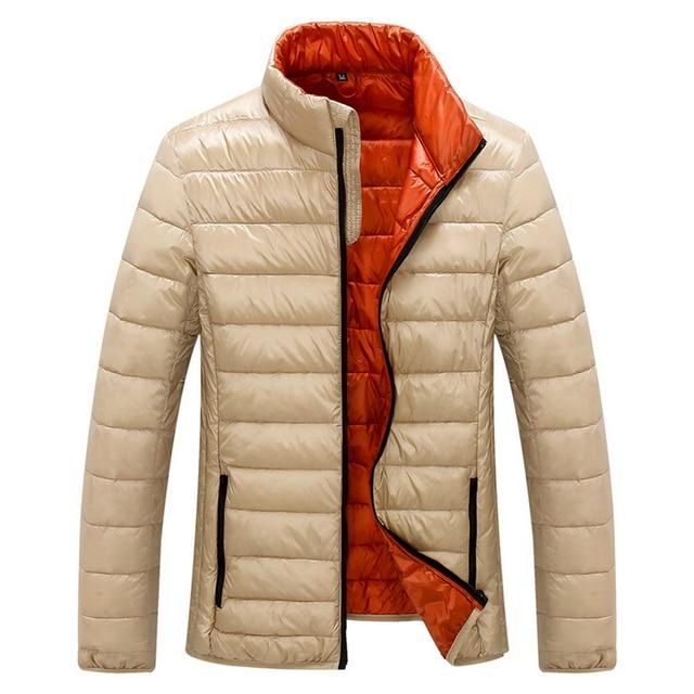 2016 Осень Зима Утка Пуховик Мужчин Сверхлегкий Белая Утка Вниз Куртки Пальто Моды для Мужчин Парки Верхняя Одежда Марка Одежда