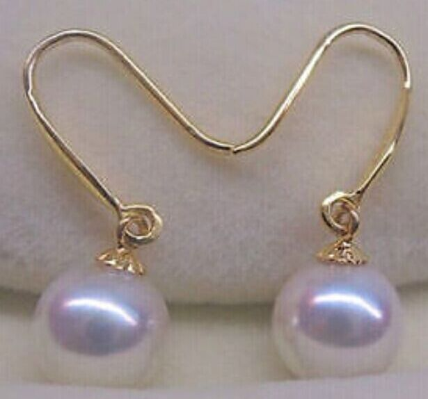 charming a pair of AAA 10-11MM SOUTH SEA WHITE PEARL EARRING 14K/20charming a pair of AAA 10-11MM SOUTH SEA WHITE PEARL EARRING 14K/20