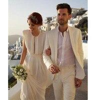 Beach ivory Tuxedos Men Suits for Wedding Men Suits Custom Made Groom Wedding Suits Groom Tuxedos Best Man Suits Jacket+Pants