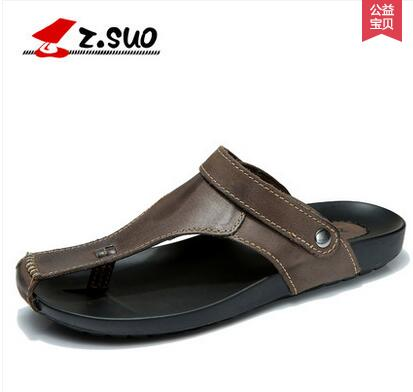 Z suoชายฤดูร้อนครึ่งรองเท้าแตะ,สบายๆพลิกรองเท้าแตะแฟชั่นรองเท้าแตะชายระบายอากาศ-ใน รองเท้าแตะผู้ชาย จาก รองเท้า บน   1