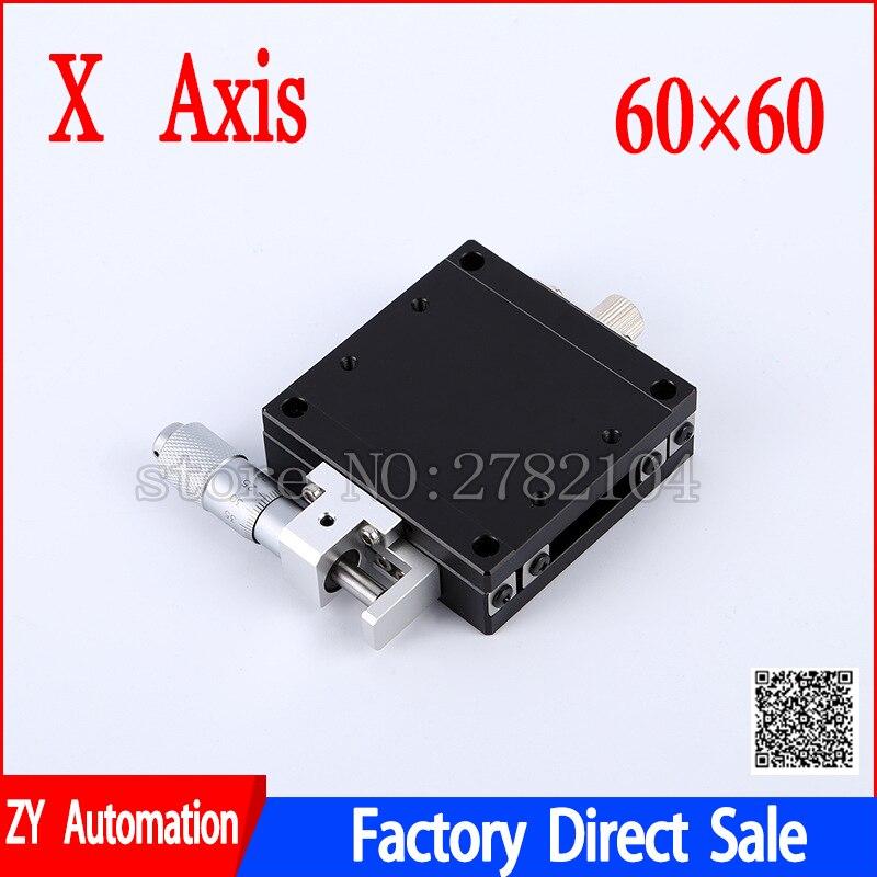 แกน X 60*60 มิลลิเมตรเลื่อน Stage Roller คู่มือไมโครมิเตอร์ความแม่นยำสูงตารางเลื่อนแพลตฟอร์ม LGX60 R C L-ใน รางสไลด์ จาก การปรับปรุงบ้าน บน AliExpress - 11.11_สิบเอ็ด สิบเอ็ดวันคนโสด 1