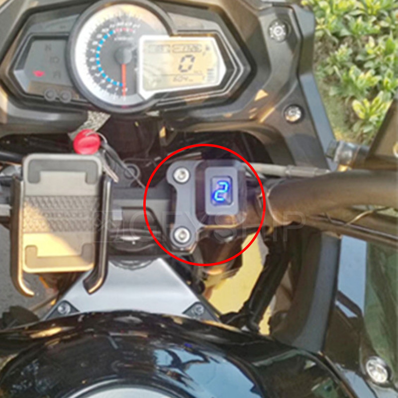Motorcycle 1-6 Level Gear Indicator Digital Gear Meter With Bracket For <font><b>Benelli</b></font> 300 TNT300 BN300 BJ250-<font><b>15</b></font> BJ300GS <font><b>TNT</b></font> 300 image