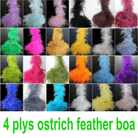 xuezhiyu 10pcs 2yards 4plys Colors Ostrich Feather Boa for Wedding Centerpieces Carnival Dress Ornaments Christmas Decorations