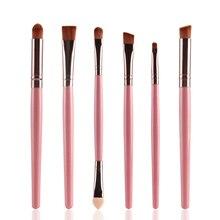 6Pcs Rose gold Makeup Brushes Set Pro Powder Blush Foundation Eyeshadow Eyeliner Lip Cosmetic Beauty Make up Brush Tool цена