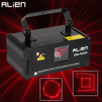 ALIEN Remote DMX512 RED 200mW Laser Light Professional Stage Lighting Scanner DJ Party Show Xmas Light Effect Projector Disco