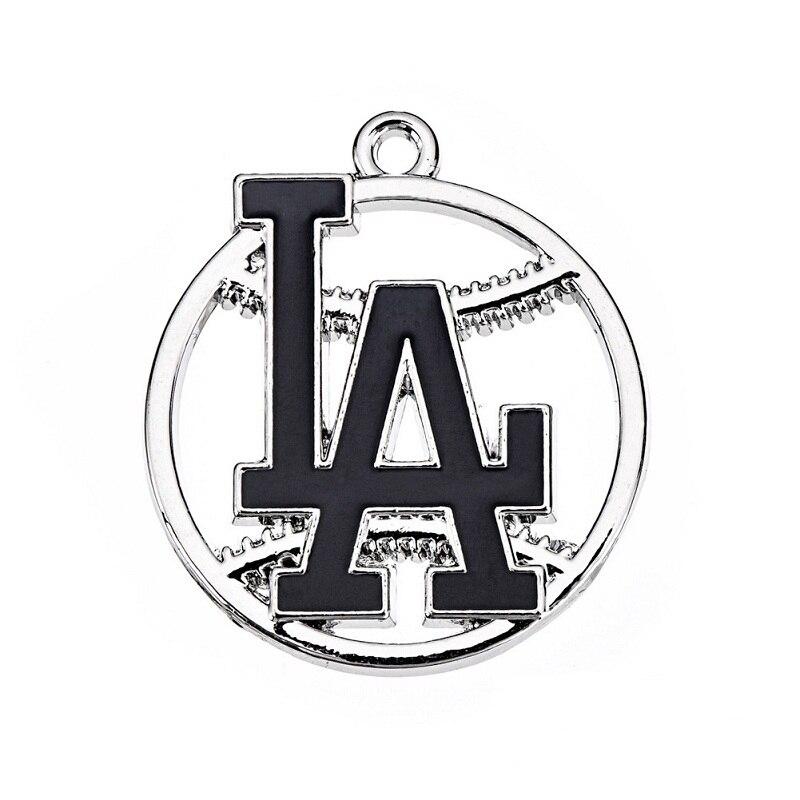 Новое поступление Los Angeles Dodgers подвеска Подвески эмаль Бейсбол команда логотип оч ...