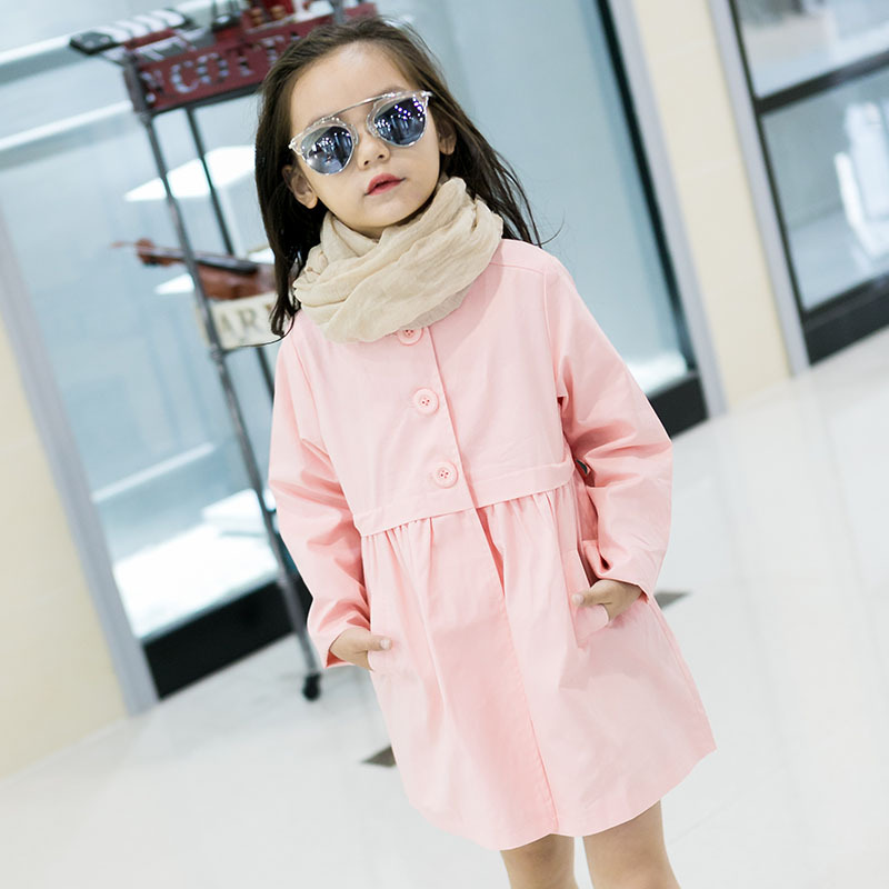 Baby Girls Clothing 2018 Spring/Autumn Exploding Girls Single Breasted Windbreaker Casual Loose Sweater Jacket Free Shipping