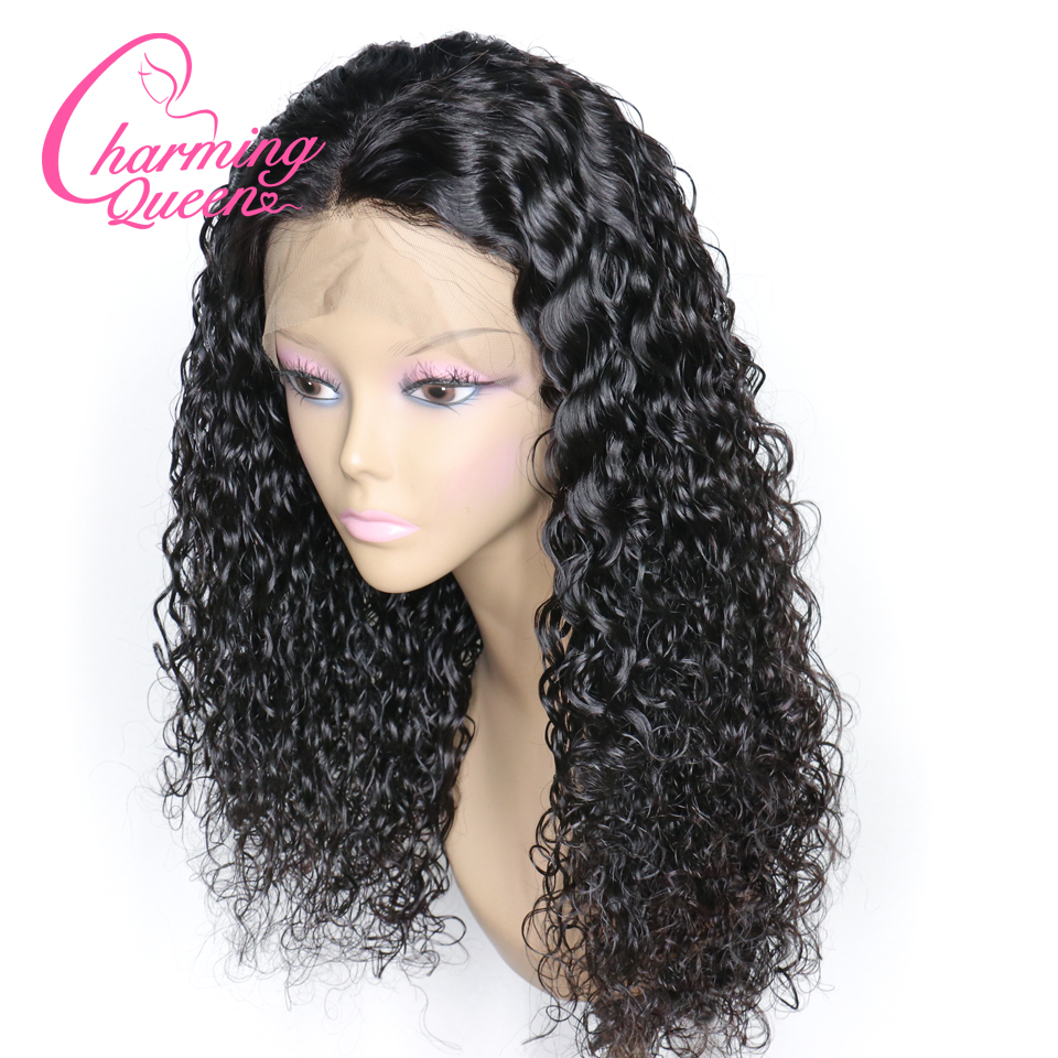Brazilian Curly Lace Front Human Hair Wigs For Black Women Remy Hair Wigs Water Curly With